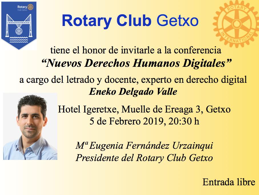 """Conferencia """"Nuevos derechos humanos digitales"""" por Eneko Delgado"""