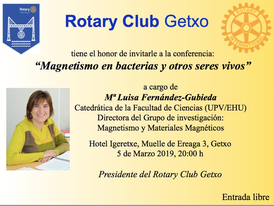 """Conferencia """"Magnetismo en bacterias y otros seres vivos"""" por María Luisa Fernández-Gubieta"""