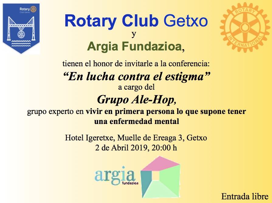 """Conferencia """"En lucha contra el estigma"""" a cargo del grupo Ale-Hop."""